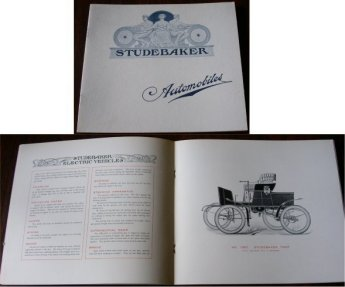 STUDEBAKER 1901 ELECTRIC CAR SALES BROCHURE