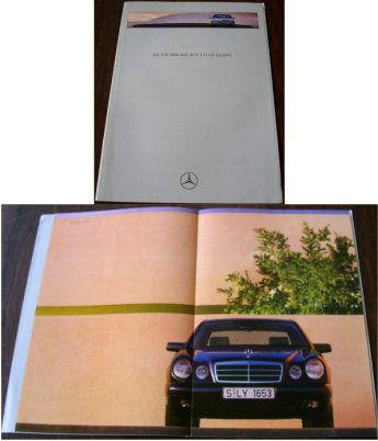 MERCEDES BENZ E CLASS SALOONS 1995 SALES BROCHURE