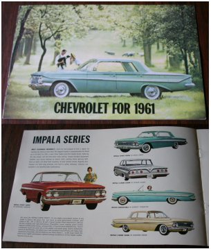 CHEVROLET 1961 BROCHURE IMPALA BEL AIR CORVAIR COR