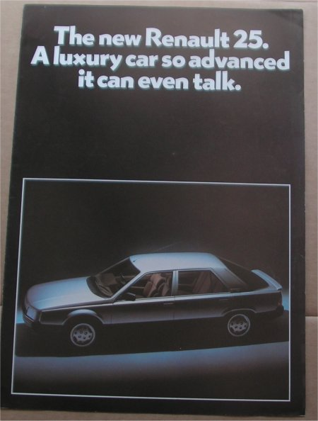 RENAULT 25 SALES BROCHURE