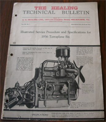 TERRAPLANE 1936 HEALING TECHNICAL BULLETIN