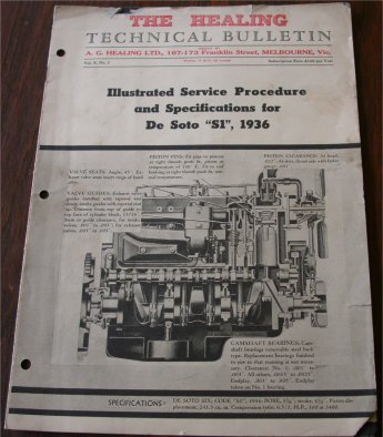 DESOTO 1936 HEALING TECHNICAL BULLETIN S1