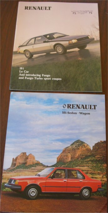 RENAULT 18i  LE CAR FEUGO 1981 1982 SALES BROCHURE