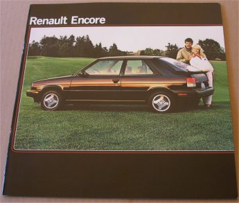 RENAULT ENCORE 1983 SALES BROCHURE