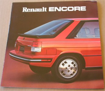RENAULT ENCORE 1983 SALES BROCHURE ANOTHER