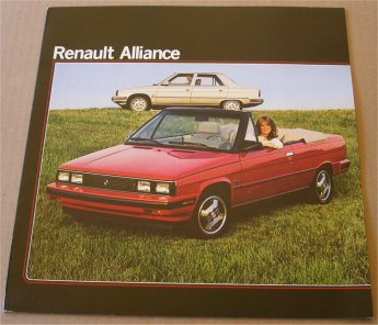 RENAULT ALLIANCE 1983 SALES BROCHURE