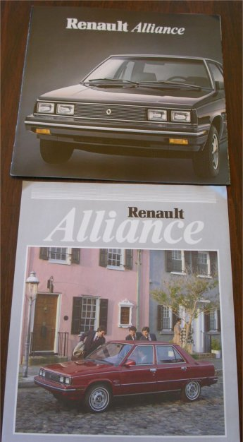RENAULT ALLIANCE 1983 SALES BROCHURE PLUS SHEET