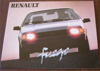 RENAULT FUEGO 1982 SALES BROCHURE TURBO