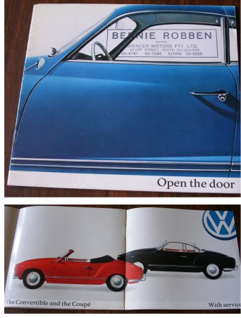 VW KARMANN GHIA 1963 ORIGINAL SALES BROCHURE