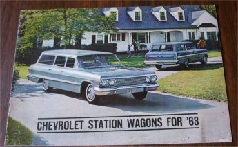 CHEVROLET 1963 WAGONS BROCHURE IMPALA BEL AIR