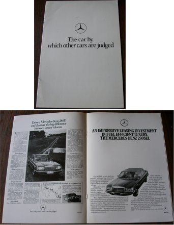 MERCEDES BENZ AROUND 1978 BROCHURE 280SEL 450SEL