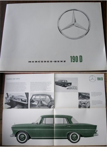MERCEDES BENZ 1963 190D SALES BROCHURE