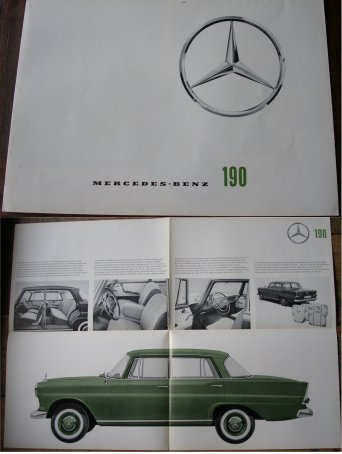 MERCEDES BENZ 1962 190 SALES BROCHURE