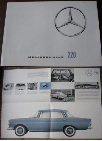 MERCEDES BENZ 1962 220 SALES BROCHURE