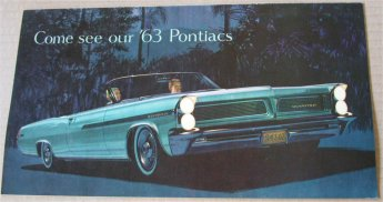 PONTIAC 1963 BROCHURE BONNEVILLE GRAND PRIX CATALI