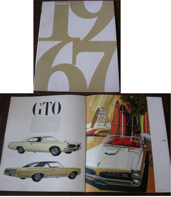 PONTIAC 1967 BROCHURE GTO BONNEVILLE LEMANS  GRAND