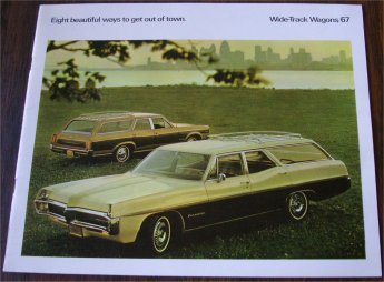PONTIAC 1967 WAGONS BROCHURE BONNEVILLE CATALINA