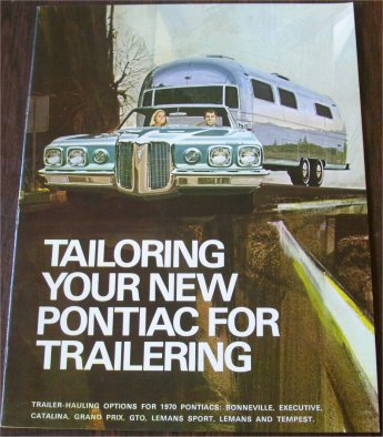 PONTIAC 1970 TRAILERING ACCESSORIES SALES BROCHURE