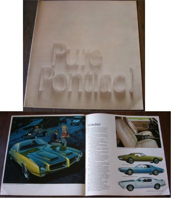 PONTIAC 1971 BROCHURE FIREBIRD GTO BROWN