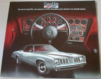 PONTIAC 1973 GRAND AM SALES BROCHURE