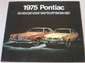 PONTIAC 1975 BROCHURE FIREBIRD TRANS AM