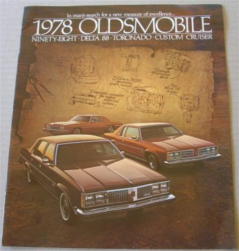 OLDSMOBILE 1978 PRESTIGE BROCHURE NINETY EIGHT TOR