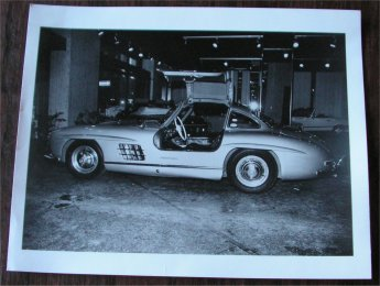 MERCEDES BENZ 300SL 1955 GULL WING DEALER PHOTO