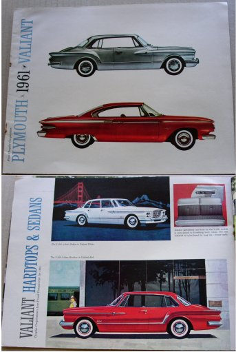 PLYMOUTH 1961 VALIANT BROCHURE LIKE VALIANT S