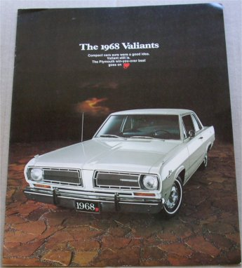PLYMOUTH VALIANT 1968 SALES BROCHURE