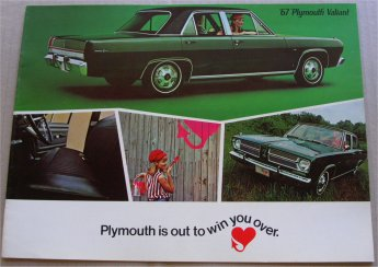 PLYMOUTH VALIANT 1967 USA SALES BROCHURE