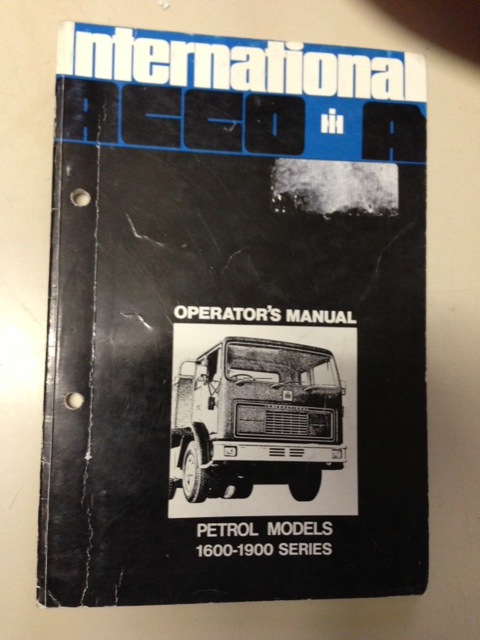 INTERNATIONAL HARVESTER ACCO PETROLTRUCK OPERATORS OWNERS MANUAL