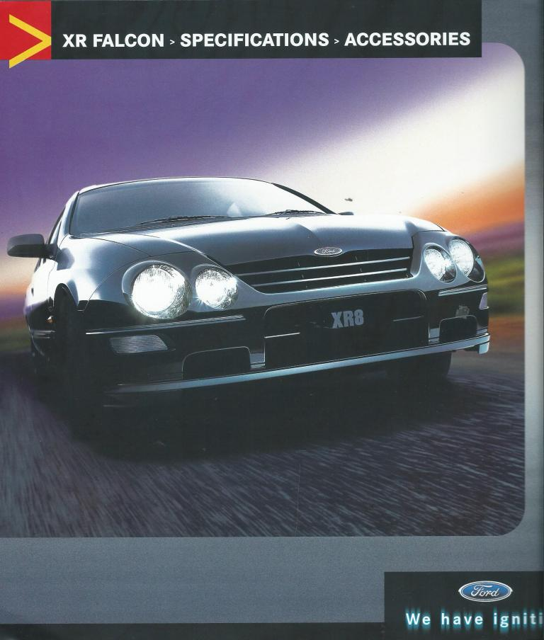 AU FALCON SERIES 2 2001 XR6 XR8 8PAGE NEW SALES BROCHURE
