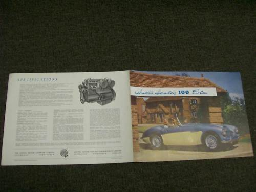AUSTIN HEALEY 100 /6 100 SIX ORIGINAL SALES BROCHURE 1405A