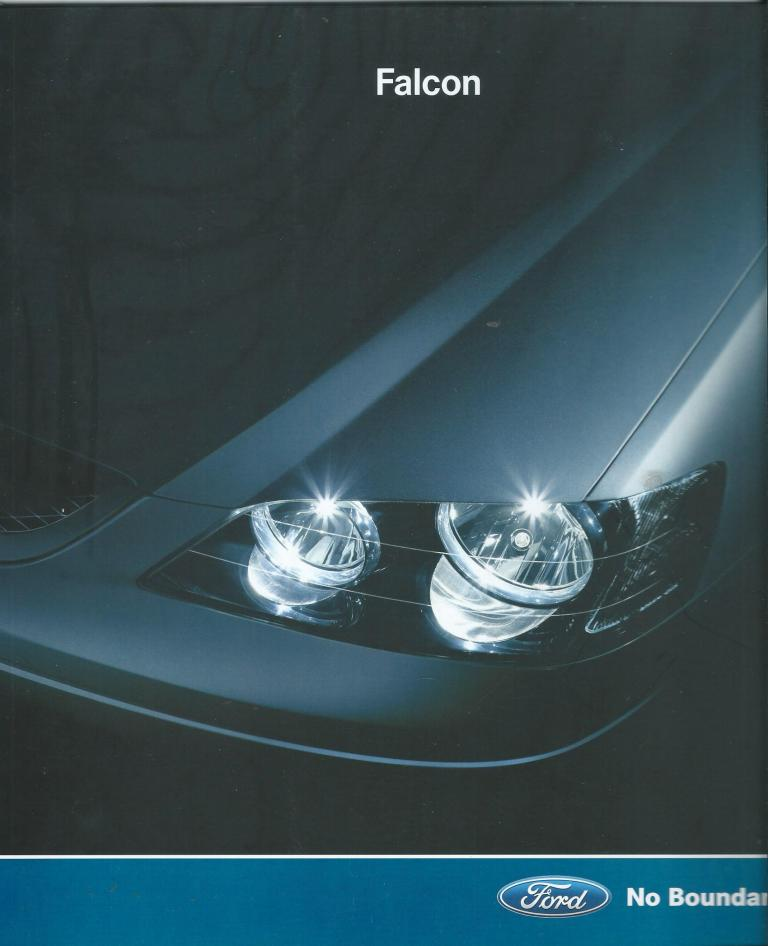 BA FORD FALCON 2003 BA SALES BROCHURE XR8 XR6 TURBO