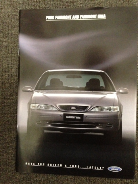EF FORD FAIRMONT & GHIA 1995 EF FULL BROCHURE NEW OLD STOCK NOS