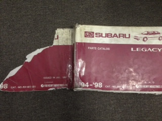 SUBARU LIBERTY LEGACY 1994 1995 1996 1997 1998 PARTS CATALOG