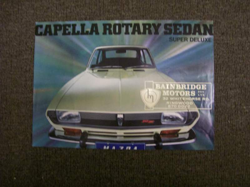 MAZDA CAPELLA RX2 RX-2 130 HP ROTARY ORIGINAL DEALER BROCHURE