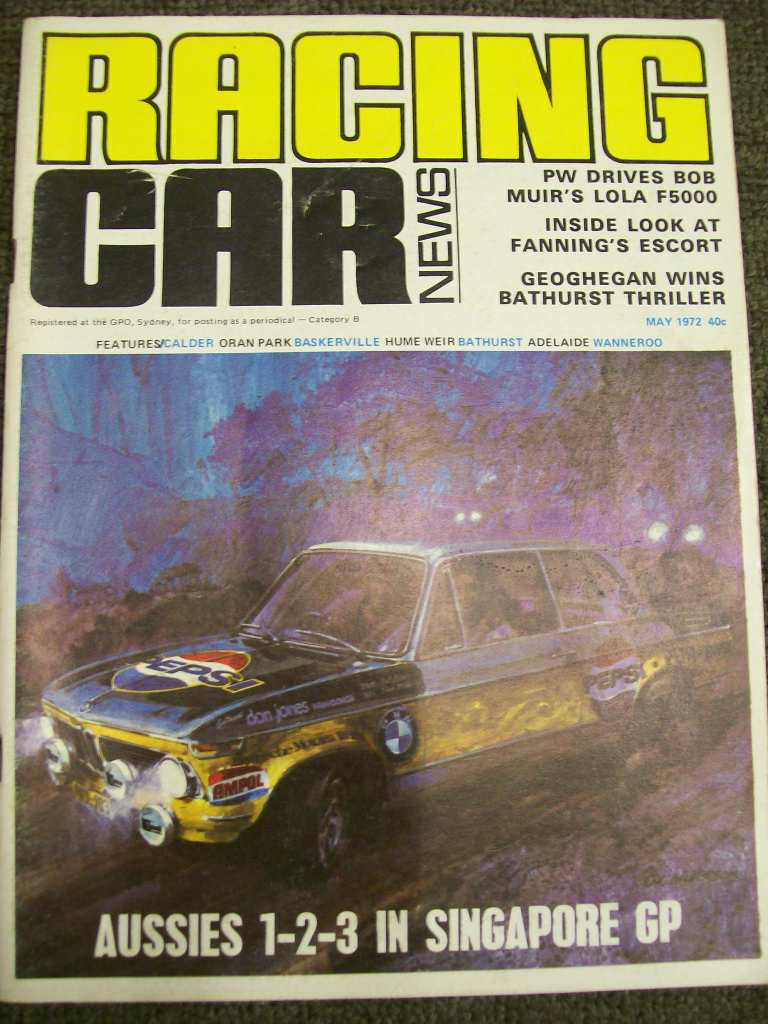 RACING CAR NEWS 1972/05