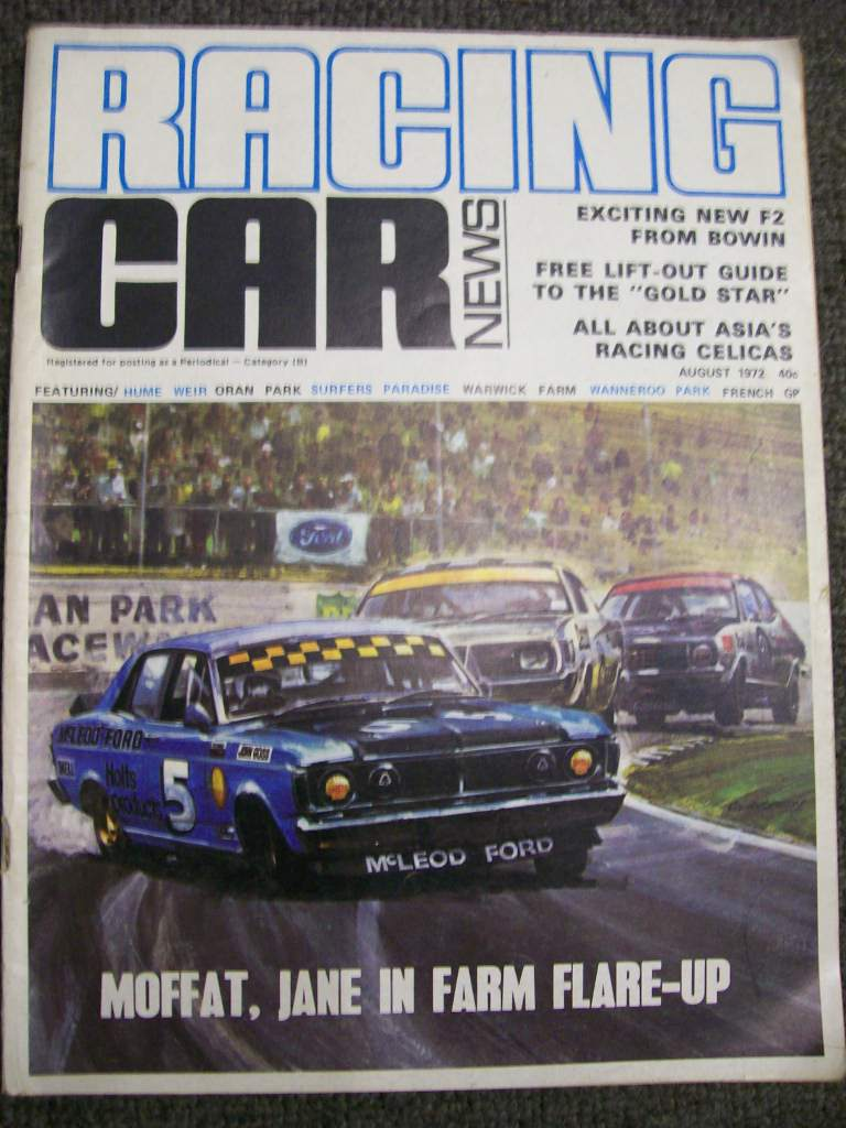 RACING CAR NEWS 1972/08