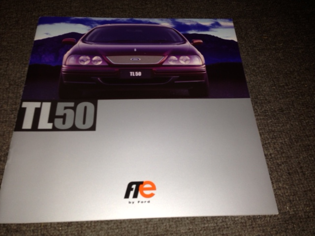 AU FALCON TICKFORD TL50 1999 PRESTIGE LARGE BROCHURE FPV
