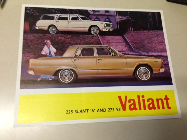 NOS VC VALIANT SEDAN WAGON 273 V8 225 ORIGINAL SALES BROCHURE