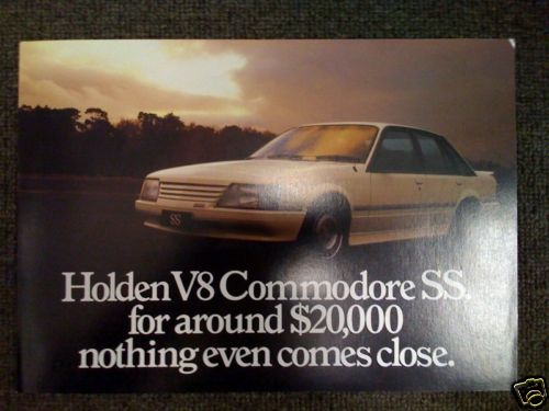 Holden Commodore VK SS & Group3 Brock HDT Sales Brochure