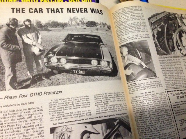 RACING CAR NEWS 1977 XA PHASE 4 GT HO FALCON TRACK TEST