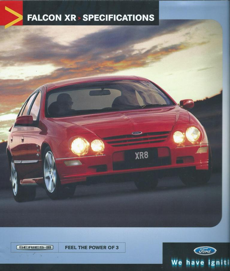 AU FALCON SERIES 3 2001 2002 XR6  XR8 8 PAGE BROCHURE