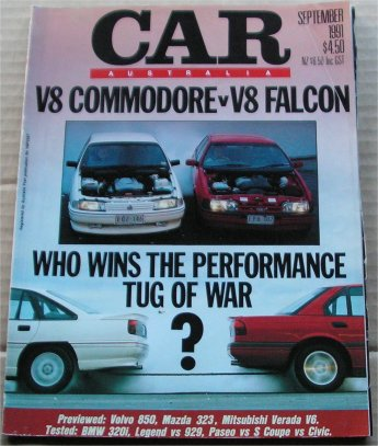 CAR 1991/09 FALCON EB S XR8 vs COMMODORE VN SS  304 V8 COMPARO