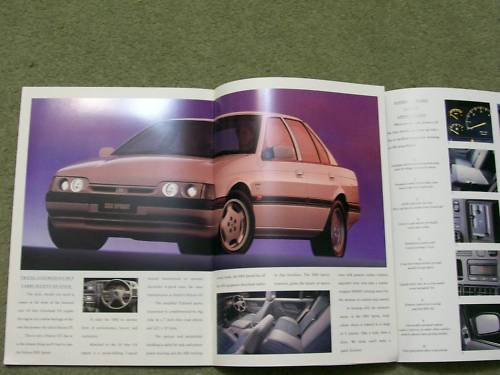 ED FORD FALCON 1993 ED XR6 XR8 SPRINT TICKFORD NEW NOS BROCHURE