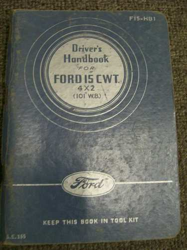 FORD 1943 ARMY TRUCK OLD  WARTIME INSTRUCTION TYPE REPAIR MANUAL