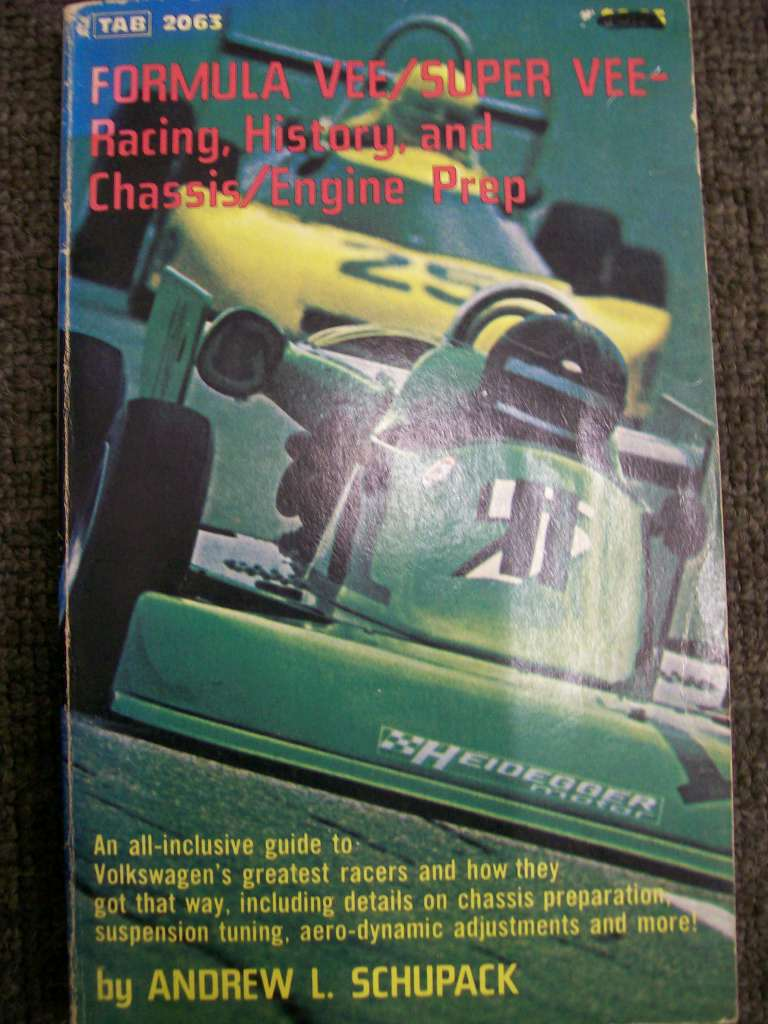 FORMULA VEE SUPER VEE A VERY RARE BOOK BY ANDREW SCHUPACK