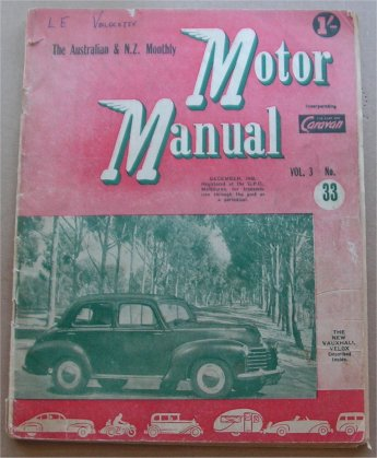 MM 1948/12 VAUXHALL VELOX WYVERN MORRIS OXFORD