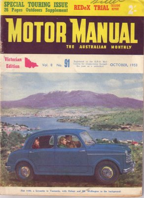 MM 1953/10 REDEX TRIAL FIAT 1100 1400 CUSTOMLINE 1953 V8